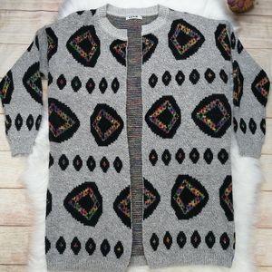RENJO Gray Open Cardigan Size L